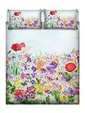 Italian Bed Linen - Parure Letto con Stampa Digitale su Lenzuolo e Federe - SD23 (Multicol...