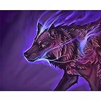 1000ピースのパズル 紫のオオカミ パズル 紙パズル子供向けビギナーギフト 38x26cm