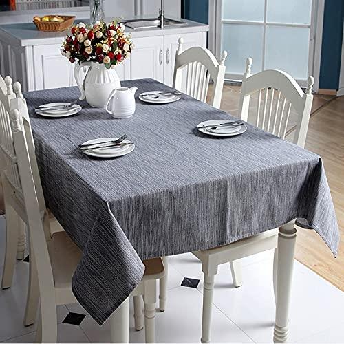 Mantel de Lino de algodón Decorativo sólido con Borla japonés Grueso Rectangular Boda Cubierta de Mesa de Comedor Mantel de té C140x180cm