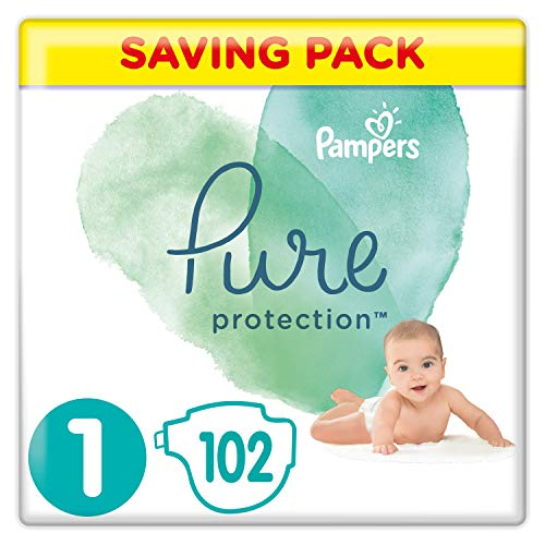 PAMPERS Protection Pure Couches Taille 1 2-5 kg 102 Unité