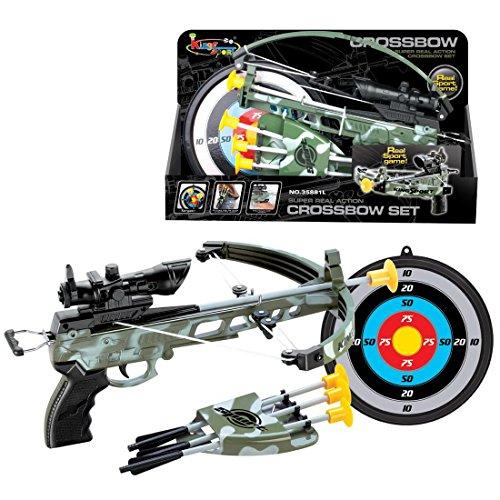 12che Pfeil und Bogen Set Kinder, Bogen-Armbrust Set Bogen-Armbrust Spielzeug Outdoor Sportspielzeug für Kinder