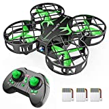 SNAPTAIN H823H Mini Drone for Kids, RC Pocket Quadcopter with Altitude Hold, Headless Mode, 3D Flip, Speed Adjustment and 3 Batteries-Green