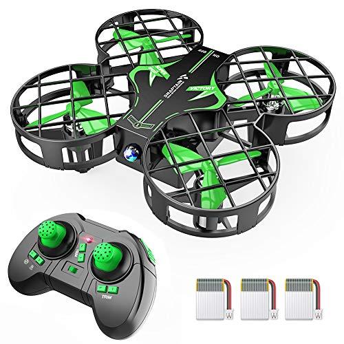 SNAPTAIN Mini Drohne H823H mit 3 Akkus für 21 Minuten Flugzeit, Quadrocopter Mini Helikopter mit Höhehalten, Kopfloser Modus, 3D Flips und 3 Geschwindigkeitsmodi für Kinder