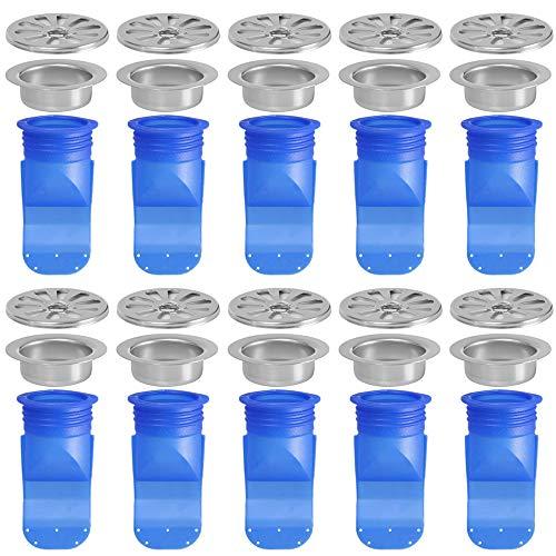 Sodor Deodorant Dichtring, 10er Pack Silikon Anti-Geruch Küche Bad Waschbecken Abflussverschlüsse & Siebe Silikon Anti-Verstopfungsrohr (A)