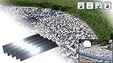 Rasenkante 5m 10m 15m 20m 30m 40m 50m 100x18cm Div. Größen | Gebördelt | Aluminium-Zink Legierung | Beeteinfaassung Metall, Rasenkantenblech, Beetumrandung, Rasenabgerenzung, Gartenabgrenzung (25)