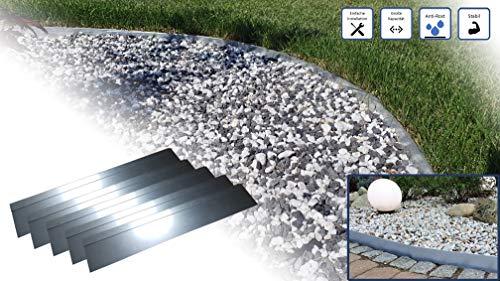 Meta Print Rasenkante 5m 10m 15m 20m 30m 40m 50m 100x18cm Div. Größen | Gebördelt | Verzinkt | Beeteinfaassung Metall, Rasenkantenblech, Beetumrandung, Rasenabgerenzung, Gartenabgrenzung (5)