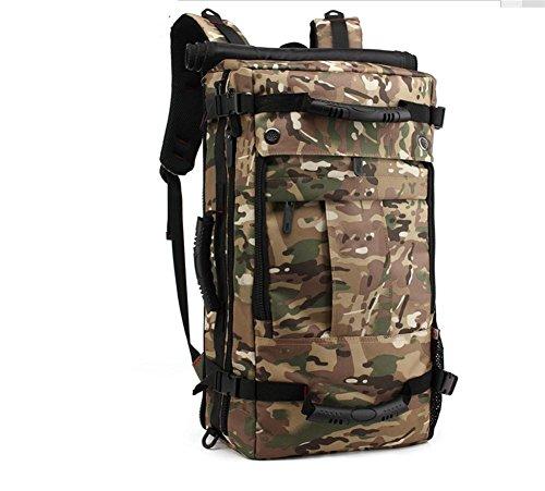 Outdoor grand voyage sac bandoulière sac sac d'étudiant avec verrouillage étanche sac à dos de voyage camping randonnée , fan color