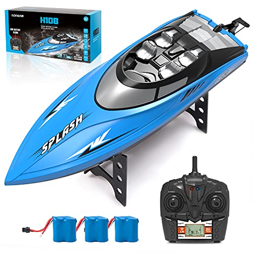 Kidfavor H108 RC Boat-20+ Mph High Speed Remote Control Racing Boat...