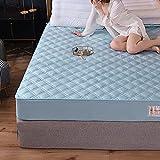 BOLO Funda de colchón impermeable con cremallera, impermeable, a prueba de insectos y ácaros del polvo, sábanas acolchadas e impermeables con 135 x 200 + 25 cm