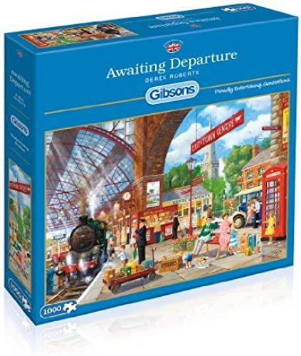 Gibsons Awaiting Departure Jigsaw Puzzle (1000-Piece) by Gibsons