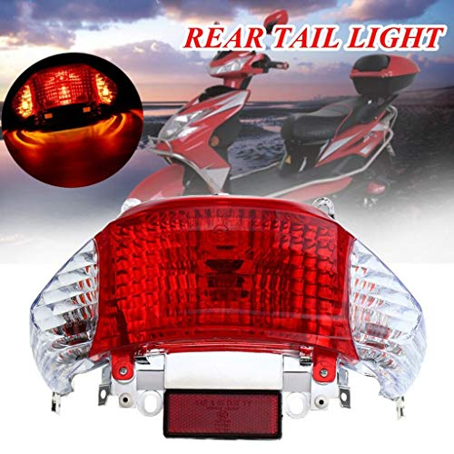 Motorcycle Bike Rear Tail Stop Red Light Lamp For Dirt Bike Taillight Rear Lamp Braking Light For Gy6 50Cc Tao Tao Coolsport
