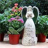Escultura,Sunshine Angel Sculpture Cemento Compuesto Estatua De Jardín para Jardín Paisaje Césped Decoración Artesanía Regalo - 14.5 * 16.5 * 34Cm Una Decoración del Hogar