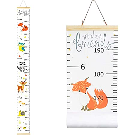Animal Huture Children Growth Chart Kid Height Marker Wall Chart Art Ruler Hanging for Bedroom Nursery Kids Wall Decal Decor Boy or Girl Height Ruler Wall Scale Measuring Toddler Playroom Decor