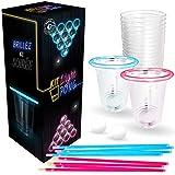 Original Cup - Light Beer Pong Kit Qualit Premium - Non - Lumire LED - 22 Grands Gobelets Amricains - 24 Btons Lumineux- 2 Balles Fluos de Beer Pong - Jeu de Soire - Jeu  Boire