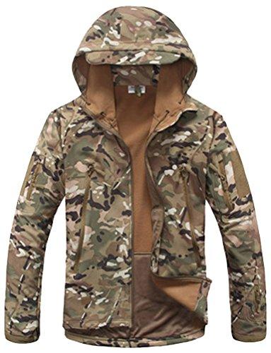 Kelmon, giacca da uomo con cappuccio, in tessuto softshell Army Medium