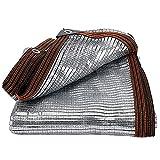 Paño de Sombra de Papel de Aluminio 75% de Tasa de Protección Solar, Tela de Sombra de Jardín Malla Sombreadora de Plantas Red de Sombra de Patios para Huertos Mascotas Fl(Size:7×7m/23×23ft,Color:W)