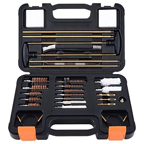 Raiseek Gun Cleaning Kit, Universal Rifle Shotgun Pistol Cleaning Kit with Carrying Case, .22 .243 .270 .30 20GA 12GA .357 .40 .45 Gun Cleaning Brush