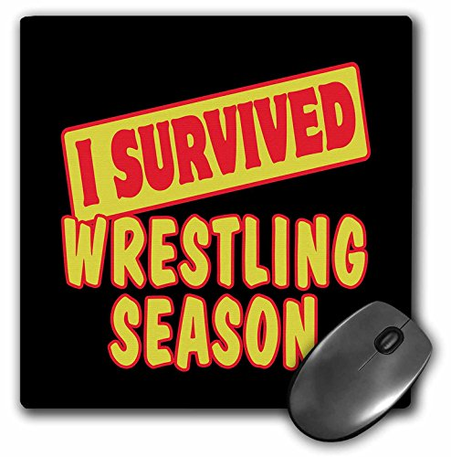 3dRose I Survived Wrestling Season Sports Fans Survial Pride and Humor Design Mouse Pad (mp_118482_1)