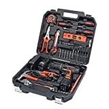 AWANFI Household Tool Kit with Cordless Drill 35 Piece Home & Office Toolkits for Daily DIY Projects, Repair & Maintenance