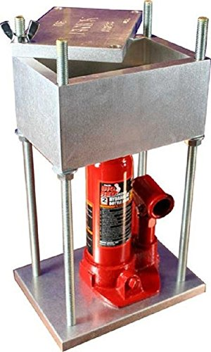 Hydraulic Pollen Press Built From Aircraft Aluminum - Made in USA (4-Ton / 8,000 Lbs Brick Press)