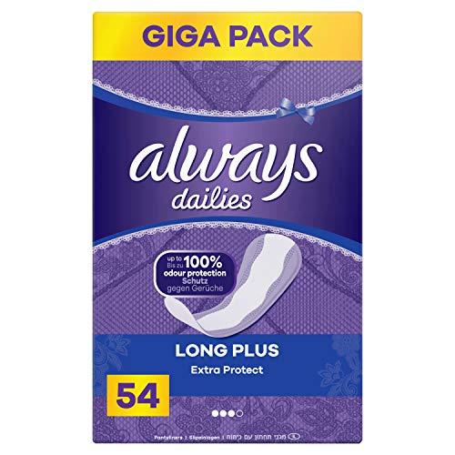 Always Extra Protect Long Plus Slipeinlagen, 54 Stück