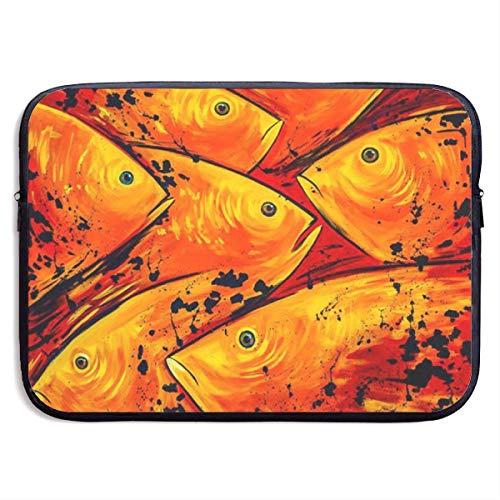 Ahdyr Notebook-Hülle 15 Zoll, wasserdichte Aktentasche Tragetasche, Neopren-Laptoptasche, Papageienfisch