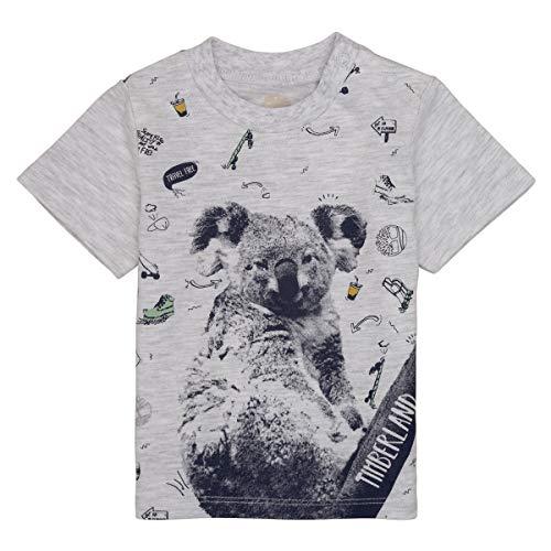 Timberland T-Shirt Jersey Coton imprimé Bebe Couche Gris Clair Chine 3MOIS
