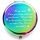 onederful Sister Gifts from Sister Brother,Sisters Birthday Gift Ideas,Rainbow Colorful Compact...