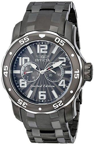 Invicta Herren-Armbanduhr XL Pro Diver Chronograph Quarz Edelstahl beschichtet 18037