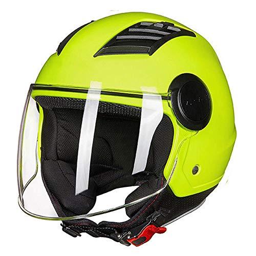 XYBB Casco Bicicleta Airflow Casco de Moto 3/4 Cara Abierta Verano Jet...