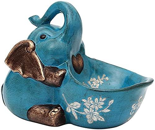 Bebé elefante animal caja de almacenamiento decoración afortunado fruta placa vino gabinete...