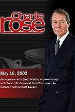 Charlie Rose with David Martin; Robert Graham & Fred Thompson; Ronald Lauder (May 16, 2002)