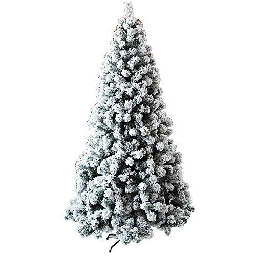 GFFTYX Natale Albero di Natale - 2.4 m Neve Albero di Natale Neve Floccaggio Natale Artificiale Pino Decorazione e Decorazione Decorazioni di Natale