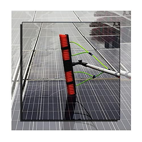 YJFENG Paneles Solares Ventana Equipo De Lavado De Cepillos, Kit De Poste De Limpieza con Bomba Autocebante, Empalme De Varilla De 1 M hasta 7 M, Cabeza De Cepillo De 50 Cm