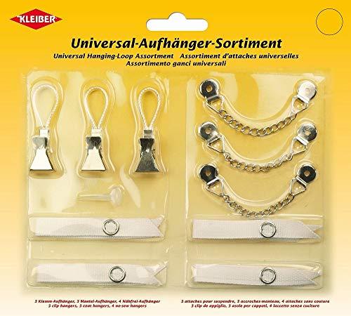 Kleiber Universal-Aufhänger-Sortiment, Verschieden, weiß/Silber, 18 x 20 x 1,5 cm
