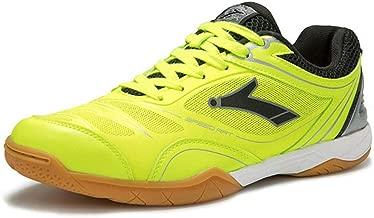 FJJLOVE Les Hommes Et Les Femmes Badminton Chaussures Respirante Squash Tennis Sneakers Non-Slip Tennis De Table Chaussures Confortables Chaussures De Squash,Bleu,39