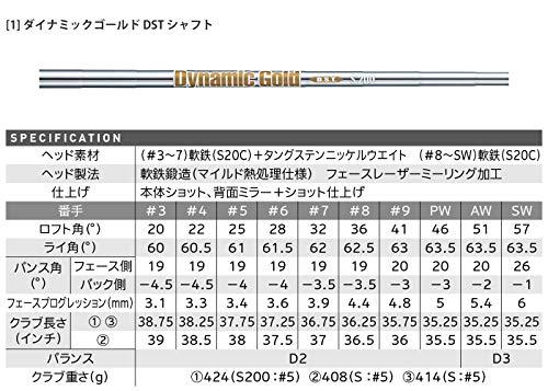 ダンロップ(DUNLOP)スリクソンZX7アイアンセット6本ダイナミックゴールドDSTシャフトメンズ右利き番手:5-9、PWフレックス:S200ゴルフクラブセット