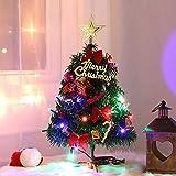 Navidad Pequeño Nevado Pino,Navidad Micro Paisaje,Mini árbol de Navidad,pequeño árbol de Navidad,Árbol de Navidad Artificial,Mini Árbol Navidad con Luces Adornos,Manualidades Navideñas (A)