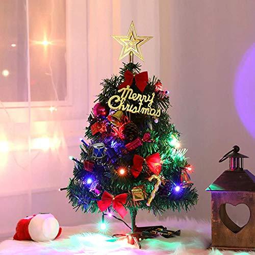 Sunshine smile Mini Weihnachtsbaum,30 cm Mini Weihnachts Baum mit LED Lichterketten,Mini Tannenbaum für Tisch,Weihnachtsbaum Miniatur,Künstlicher Weihnachtsbaum,Weihnachts Baum klein,Christbaum(A)