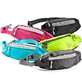 Savvy Outdoors Fanny Packs for Women - Slim Spacious Waist Pack with Multiple Compartments and Headphone Cord Access - Lightweight Fannie Hip Bag Great for Hiking, Walking, Biking, Running, Travel, More - Traveling Accessories Women's Gift - Blue