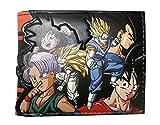 Monedero de Dragon Ball Z Caracteres de Doble Pliegue
