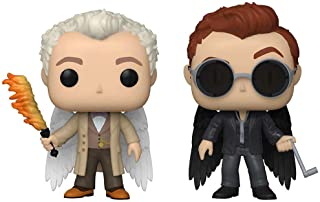 Funko POP! TV Good Omens Aziraphale & Crowley Specialty Series Figures, 2-Pack