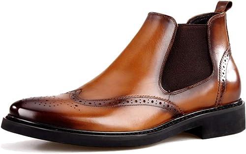 YCGCM Calzado De hombres, Botines, Vintage, Broch, zapatos Altos, Inglaterra, Casual, Ponible, Cómodo