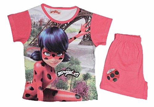 Suncity Conjunto Camiseta y Shorts de Ladybug Rosa
