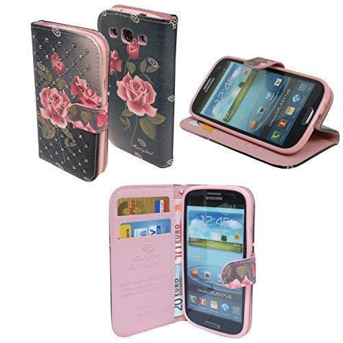 ENERGMiX Book-Style Handyhülle kompatibel mit Huawei Y625 Schale Schutzhülle Tasche Zubehör mit Strass Steinen Motiv 6