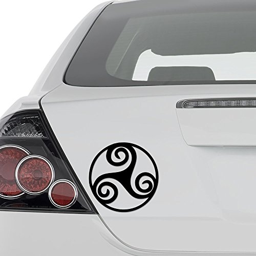 AAmpco Decals Triskelion Celtic Vinyl Decal Sticker - Wall Decor Motorcycle Car Truck Windows Bumper - Size [8 in/20 cm] Tall Color- Gloss White