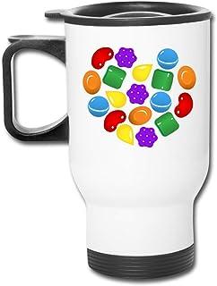 JUKIL Candy Crush Saga Car CupCopa de lecheBotella de café de viaje VacíoBotella de agua