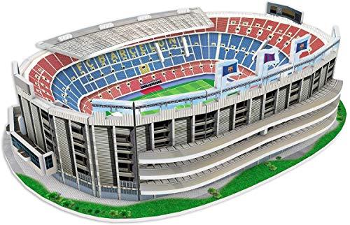 Kick Off- 34010 Puzzle 3D Mini Estadio NOU Camp 2019, Multic