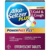 ALKA-SELTZER PLUS Severe Non-Drowsy Cold & Cough PowerFast Fizz Effervescent Tablets, Citrus, 20 Count (Pack of 1)