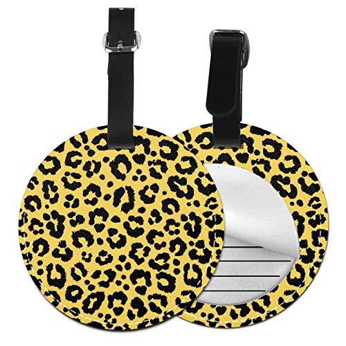 Etiquetas para Equipaje Bolso ID Tag Viaje Bolso De La Maleta Identifier Las Etiquetas Maletas Viaje Luggage ID Tag para Maletas Equipaje Piel de Leopardo de Guepardo